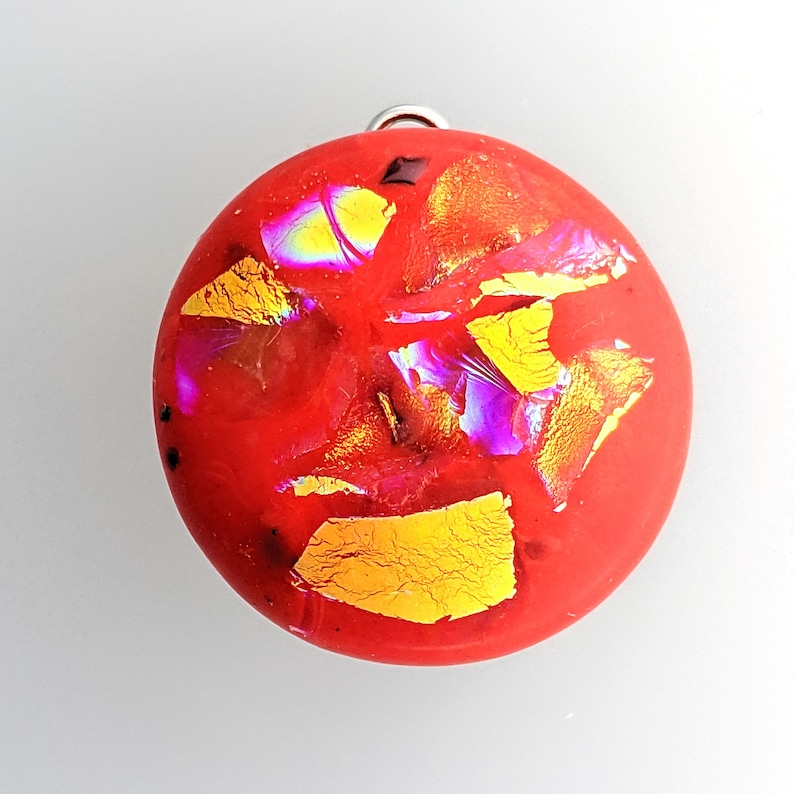 Snap Jewelry Red and Gold Dichroic Jewelry Bracelet image 0
