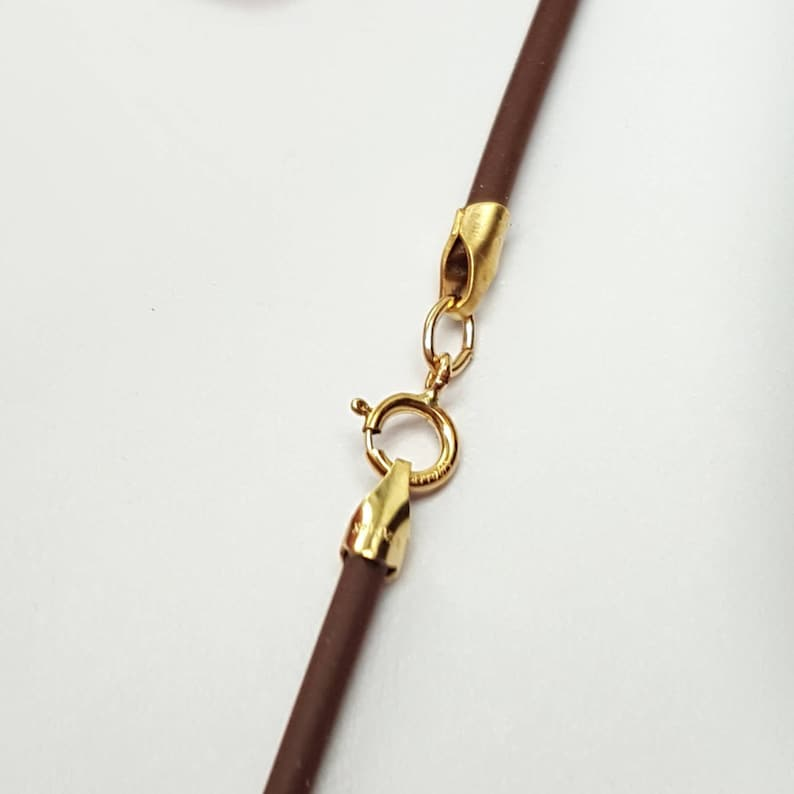 Brown Cord Rubber Cord Necklace Rubber Cord 2mmBrown image 0