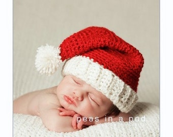 596e3522f Baby santa hat | Etsy