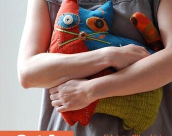 Cat 1 - stuffed animal / PDF Patchwork Sewing Pattern