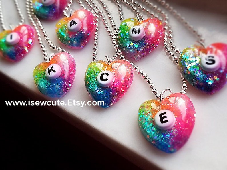 Little Girls Jewelry Personalized Girls Necklace Heart image 0