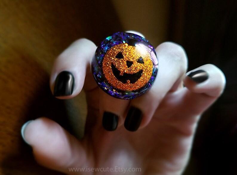 Halloween Ring Statement Ring Pumpkin Jewelry Halloween image 0