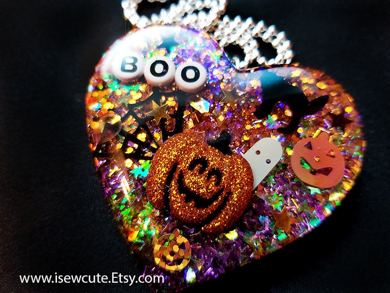 Halloween Statement Necklace Huge Halloween Theme Novelty image 0