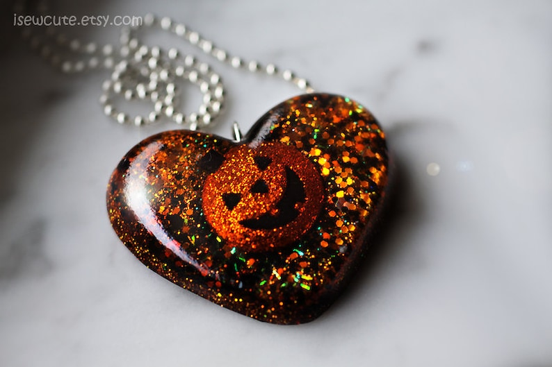 Necklace for Halloween Resin Jewelry Novelty Pendant Spooky image 0