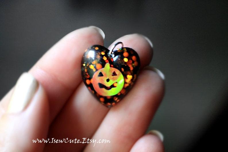 Halloween Jewelry Little Girl Pumpkin Necklace Jack image 0