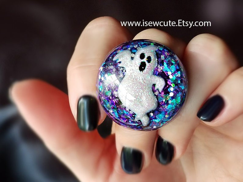 Ghostly Halloween Ring Halloween Night Ring Haunting Ghost image 0
