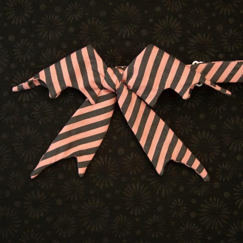 self tie bat bow tie with tails  ladies bat bow tie  spooky bat bow tie for women  halloween bow tie
