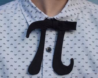 Pi tie //  black self tie bow tie for math teachers, geeks, & smarty-pants