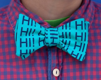 hi! bow tie- July's rad bow tie of the month!