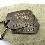 Dog Tag Necklace | Custom Dog Tags Personalized Necklace | Dog Tag | Dogtags | Rustic Military Style | Custom Dogtag Jewelry, John