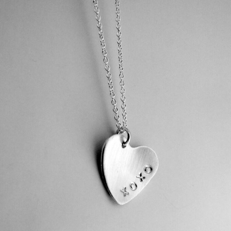 Custom Heart Necklace  Personalized Heart Charm  Custom image 0