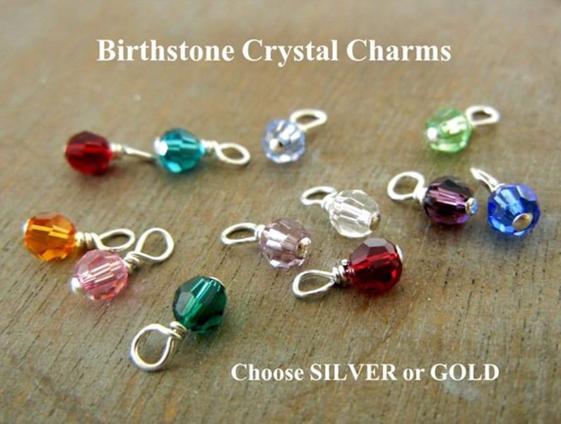 3d8b155f3892 Birthstone Charm Swarovski Birthstone Crystal Birth Stone