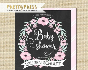 30th birthday invitation modern faux gold foil hello 30 baby shower invitation pink flowers chalk board baby shower invite eco friendly soy ink free priority shipping or diy printable filmwisefo