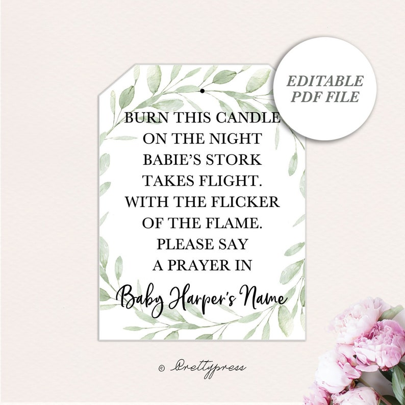 photograph regarding Printable Baby Shower Tags called Boy or girl Shower Candle Like Tags, Boy or girl Shower Tag, Printable Child Shower Prefer Tags, Tea Mild Child Shower Tag, Candle Tags, Tea Gentle Tags