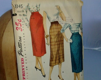 vintage SIMPLICITY pattern- straight skirt