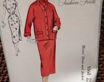 vintage McCalls dress/ jacket pattern