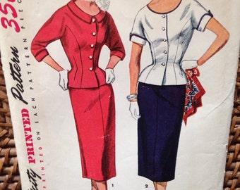 la veste péplum 1950 costume robe