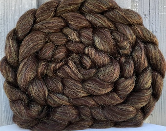 Merino and Firestar Roving, Top, Brown