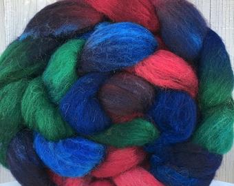 "Cheviot Wool, Handpainted Roving, Top, ""Guinevere"""