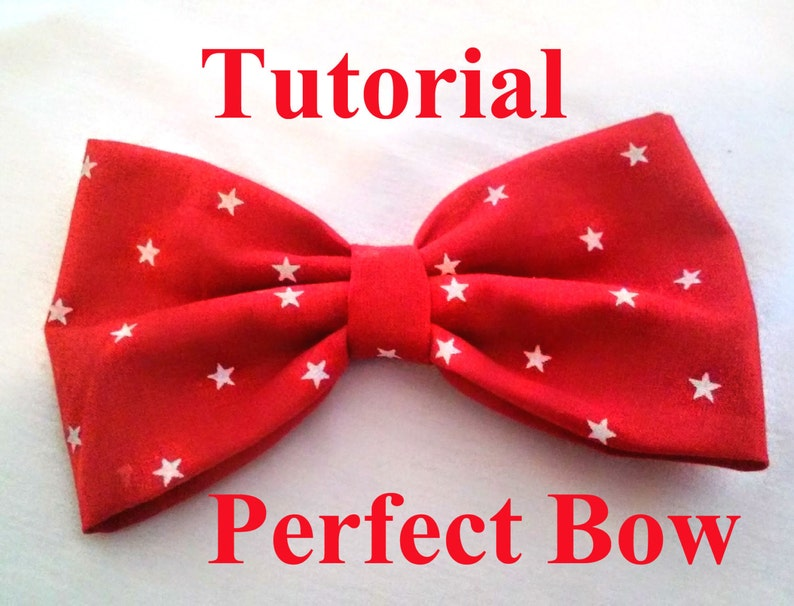 The perfect Bow tutorial No sew Bow for Beginner  10 min image 0