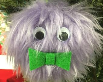 Furry monster Christmas ornament