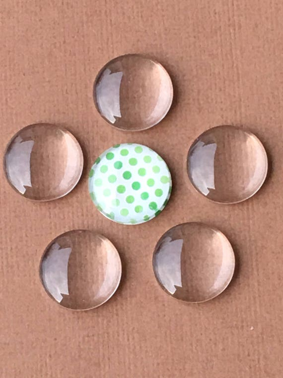 Crystal Clear Circle Domes Cabs FREE SHIPPING 18mm Round Glass Cabochons