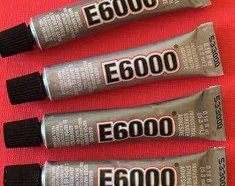 2 Tubes E6000 Glue Adhesive Industrial Strength Craft Mini Tube .18oz. for magnets jewelry craft making bead