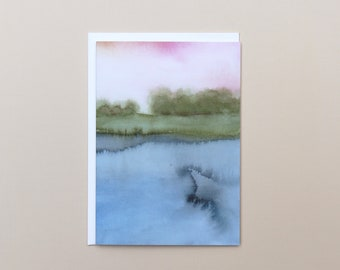 Blank Notecard Set with Envelopes, Set of 6 Cards, Blank Cards, Watercolour Greeting Cards, Sustainable Cards
