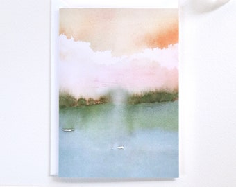 Blank Cards, Notecard Set with Envelopes, Set of 6 Cards, Watercolour Greeting Cards, Sustainable Cards