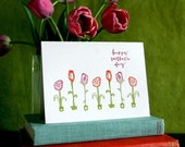 Happy Mother's Day letterpress card, for mom, flowers