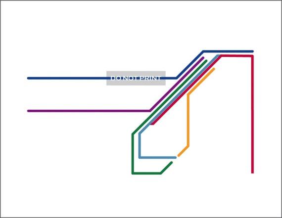 San Francisco Metro Map Line Art 16 X 20 Print Etsy