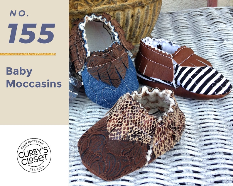 PDF Pattern Baby Shoe Moccasin  Adorable and Fun to make image 0