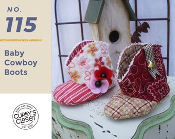PDF Pattern Baby Cowboy Boot  Adorable and Fun to make-Instant Download