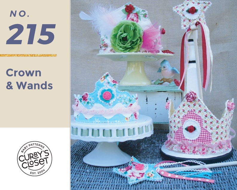 PDF Pattern Crowns and Wand Pattern Adorable for Birthdays image 0