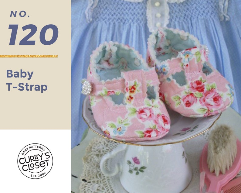 PDF Pattern Baby T-Strap Adorable and Fun to make Instant image 0
