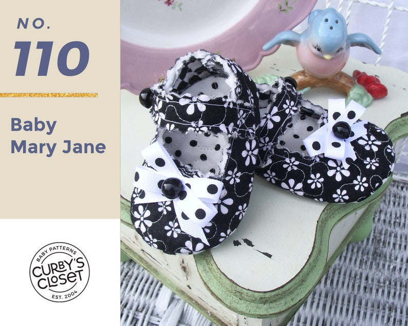 PDF Pattern Baby Shoe Mary Jane Adorable and Fun to make image 0