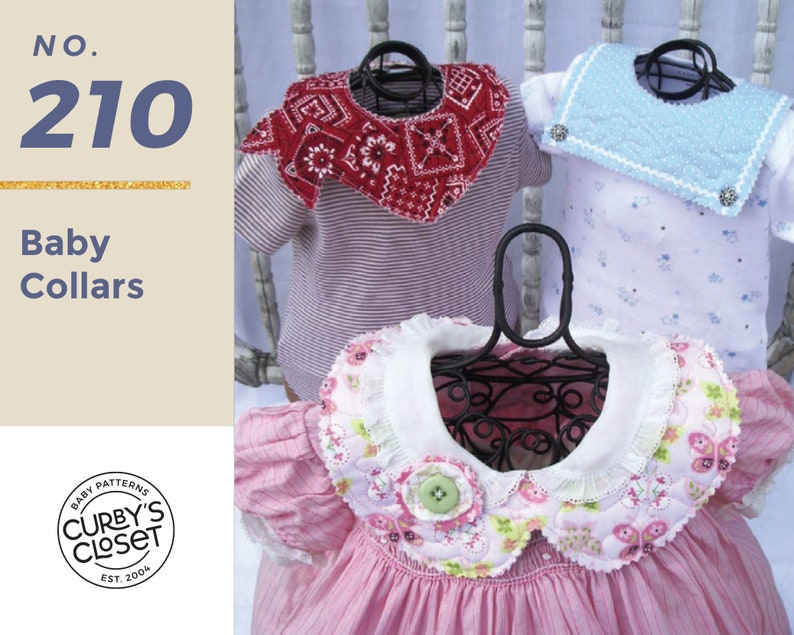 PDF Pattern Baby Collar Pattern Adorable and super easy to image 0