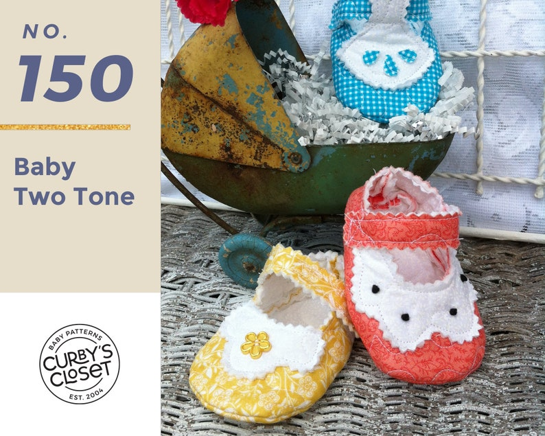 PDF Pattern Baby Two Tone  Adorable and Fun to make-Instant image 0