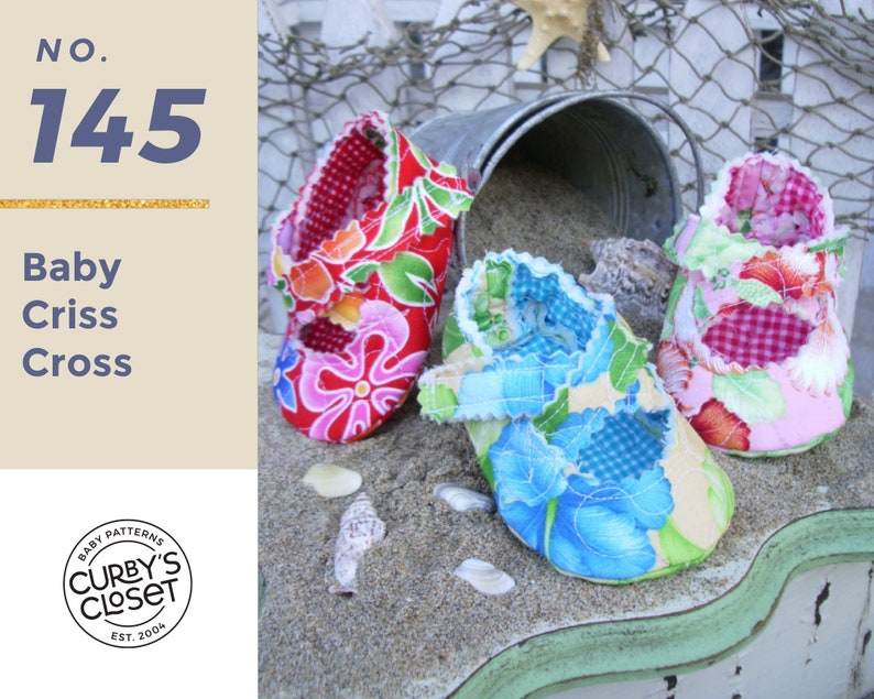 PDF Pattern Criss Cross Baby Shoe Adorable and Fun to make image 0