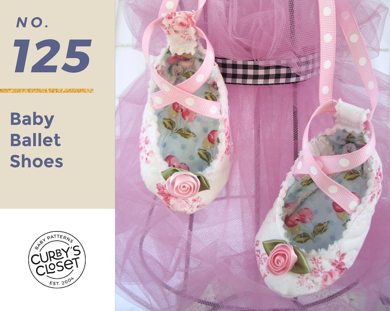 PDF Pattern Baby Ballet Shoe  Adorable and Fun to make image 0