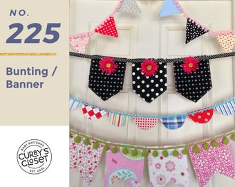 PDF Pattern Bunting/Banner Pattern Adorable for Birthdays, Parties, Celebrations