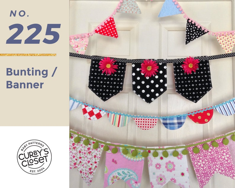 PDF Pattern Bunting/Banner Pattern Adorable for Birthdays image 0