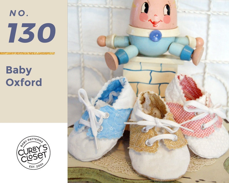 PDF Pattern Baby Shoe Oxford  Adorable and Fun to make-Instant image 0