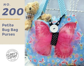 """PDF Pattern Petite """"BUG BAGS"""" for Toddlers and Little girls"""