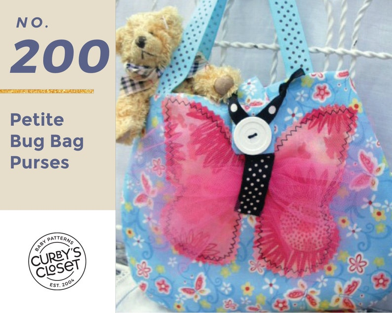 PDF Pattern Petite BUG BAGS for Toddlers and image 0