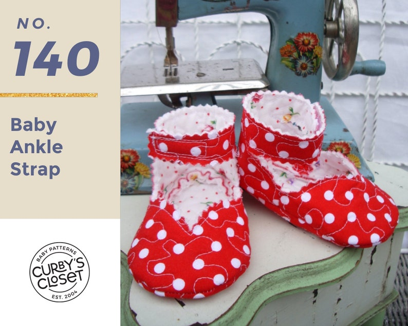 PDF Pattern Ankle Strap Baby Shoe Adorable and Fun to make image 0