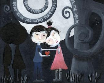 The Heartbreak Series DOWN IN A HOLE 11 x 17 art print