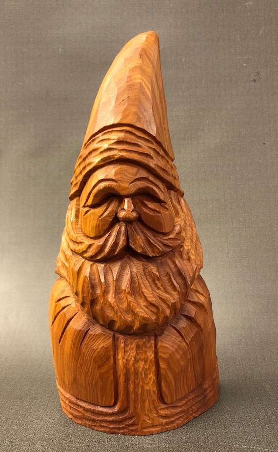 HAND CARVED original Santa with natural finish from 100 year old Cottonwood Bark