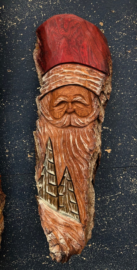 HAND CARVED original Chritmas Spirit from 100 year old Cottonwood Bark