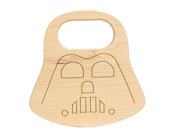Dark Father Baby Teether - Geek Baby - Space Party Favor - Wooden Teether